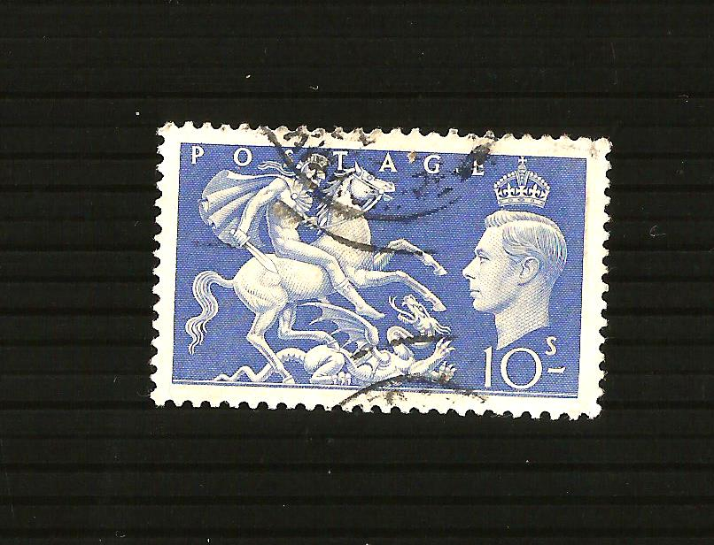 GB 1951 KGVI 10/- St George & the Dragon SG 511 fine used