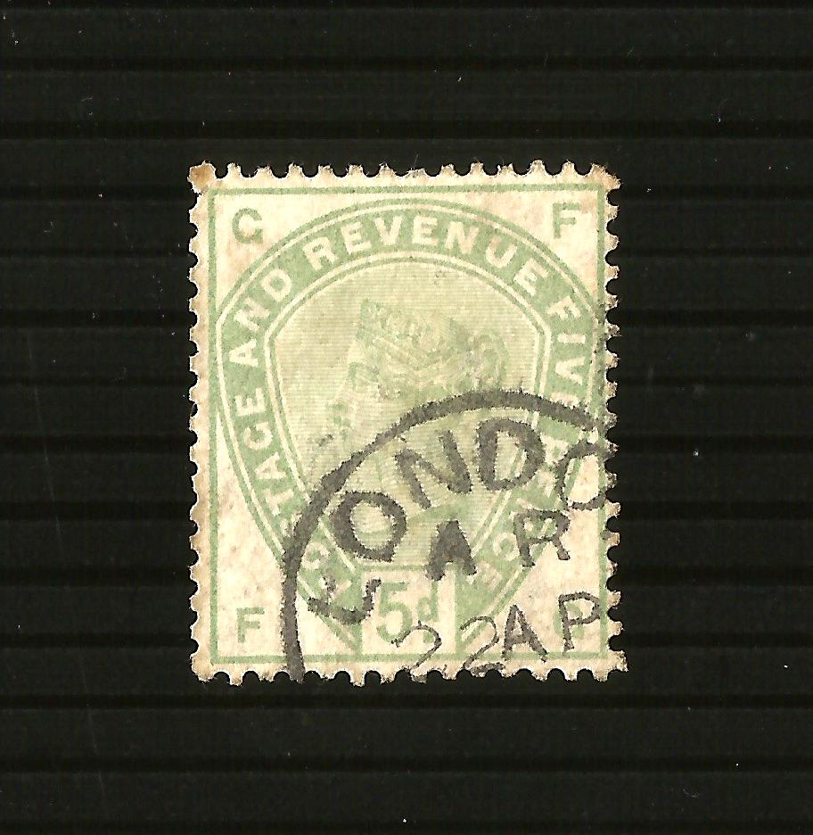 SG193, 5d dull green, USED. Cat £210. F.G